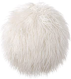 Cool Lemon Sweet Round Ball Long Imitation Wool Hug Plush Fur Throw Pillow Sofa Chair Stuffed Pillow Waist Rest Cushion Stuffed Toy Decor Birthday Gifts Home Bed Decoration