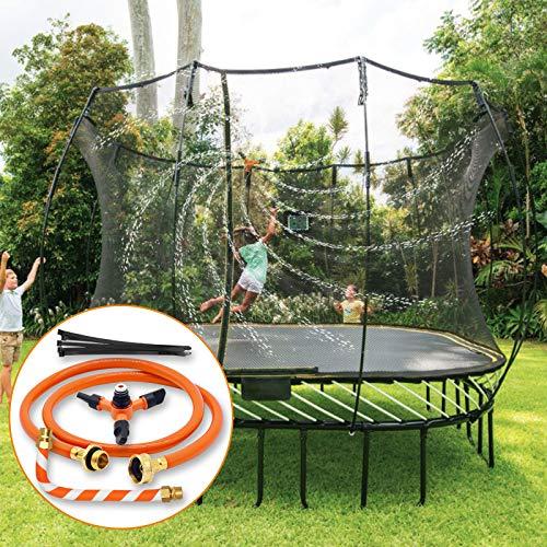 Trampoline Sprinkler Trampoline Spray Water Park Accesorios de trampolín de agua para exteriores de verano, agua giratoria automática de 360 grados, juego completo de sistema de rociadores
