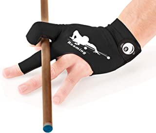 Roaming Billiard Shooters Carom Pool Snooker Cue Sport Glove Fits on Left Hand for Men and Women
