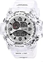 Sunway Digital Mult Function White Dial White Synthetic Strap Latest Men & Boys Sports Watch