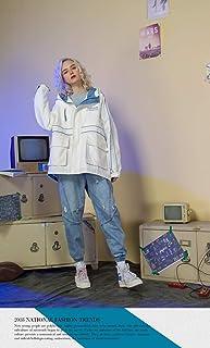 YEP STUDIO AMFunGO Autumn Women Jacket Outwear (XL, White)