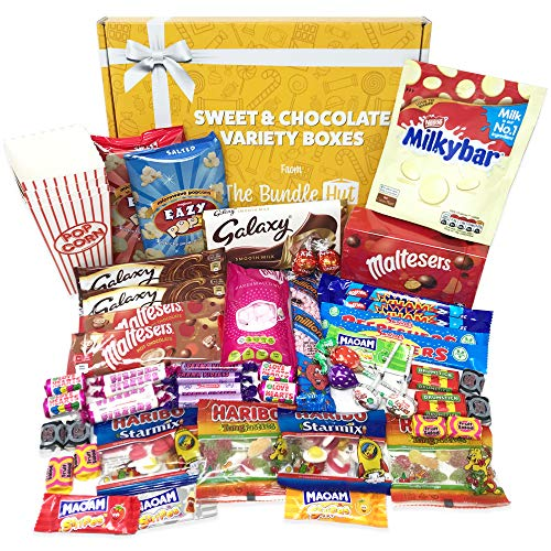 Movie Night Hamper Box from The Bundle Hut: Includes 50+ Items, Perfect for a Family Cinema Night In, Sleepover Party with Friends or as a Gift