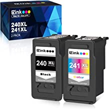 E-Z Ink (TM) Remanufactured Ink Cartridge Replacement for Canon 240 240XL 241 241XL PG-240XL CL-241XL for use with PIXMA TS5120 MG3620 MX472 MX452 MG3520 Printer (1 Black,1 Color, 2 Pack)