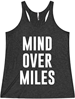 Women's Funny Running Marathon Workout Half Marthon Tank Top T Shirt Apparel Mind Over Miles