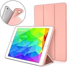 kakayaya Funda iPad 9.7 2018 2017 Modelo Slim Fit Inteligente Silicona Cover con Stand Función y Auto-Sueño/Estela para Nuevo iPad 9.7 Pulgadas 2018 2017 Modelo (Oro Rosa)