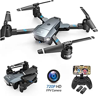 ドローン カメラ付き 折り畳み式 720P HDカメラ バッテリー2個付き 最大飛行時間15分 WIFI FPVリアルタイム 高度維持機能 自動ホバリング ヘッドレスモード 360°フリップ 体感モード 国内認証済みSnaptain A15H
