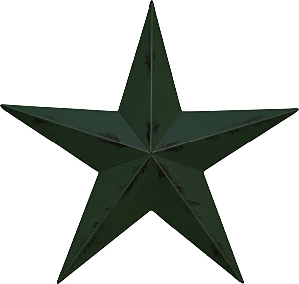 AMISH WARES 32 Inch Rustic Hunter Green Barn Star Made With Galvanized Metal To Prevent Rusting American Handcrafted Made In The Usa
