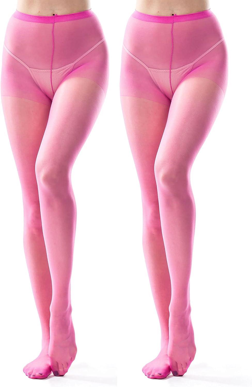 Women's Pink Sheer Pantyhose Tights