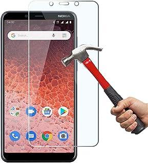 KP TECHNOLOGY Nokia 1 Plus äkta härdat glas av högsta kvalitet – explosions- och spricksäkert skärmskydd skydd för Nokia 1...