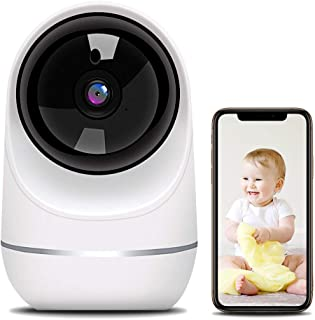 Baby Monitor, 1080P Pet Camera Wireless Security Camera with Motion Detection Human Detection Two Way Audio and Cloud Stor...