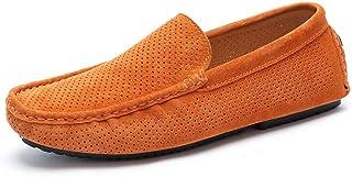 Mocassins en Daim Hommes Loafers Casual Bateau Chaussures Chaussures en Cuir décontractées Mocassins Doux et Respirants Ch...