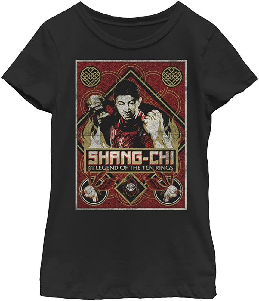 Marvel Shang-Chi Defiance Girl's Solid Crew Tee