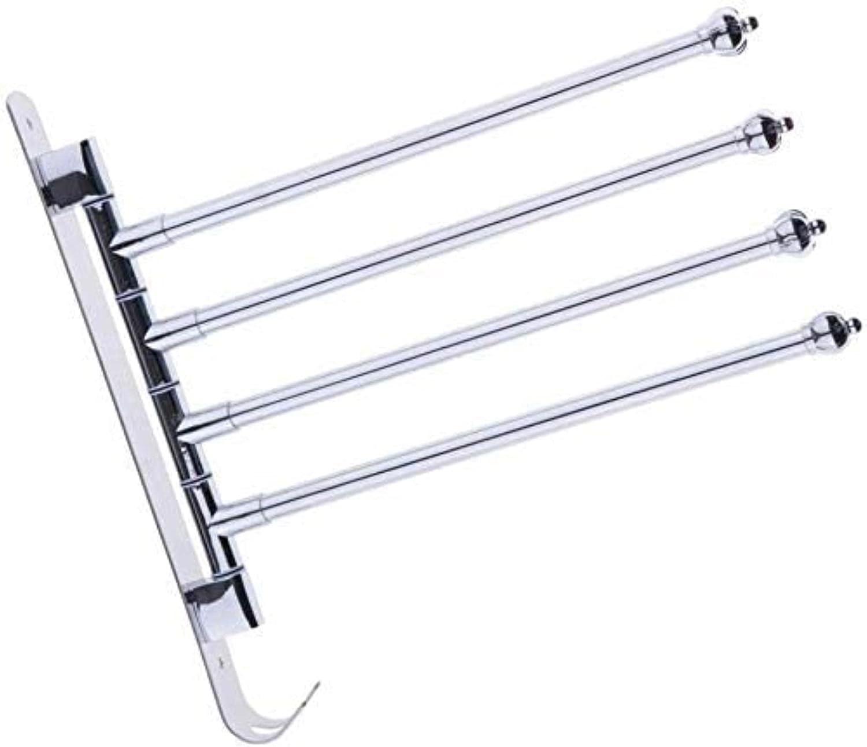Direct sale of manufacturer QOHG Stainless Steel Rotating Towel Rack Baltimore Mall Polish Hanger Organizer