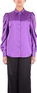 NINEMINUTES Luxury Fashion Womens THEBALLOONSILKPURPLE Purple Shirt | Season Outlet