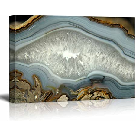 Natural Multi Glass Framed Panel Natural Agate 4 Inch Geode Stones Living Room D/écor Solo Natural Agate Wall Art 14 x 17 MP95G-0003 Madison Park