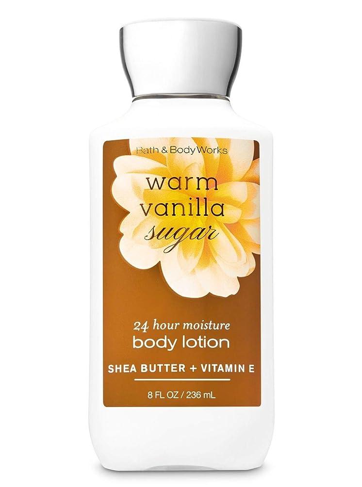 満了窒息させるに話す【Bath&Body Works/バス&ボディワークス】 ボディローション ウォームバニラシュガー Super Smooth Body Lotion Warm Vanilla Sugar 8 fl oz / 236 mL [並行輸入品]