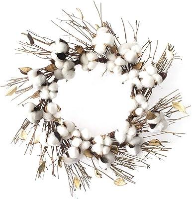 Bling Guirnalda de algodón 18 Pulgadas Vainas de algodón conservadas Reales Cortijo Verano Otoño Otoño Cosecha Invierno: Amazon.es: Hogar