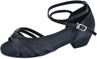 9f999b61ba0f7 OCHENTA Fille Chaussure Danse Latine à Petite Talon Bloc Sandales Danse  Enfant