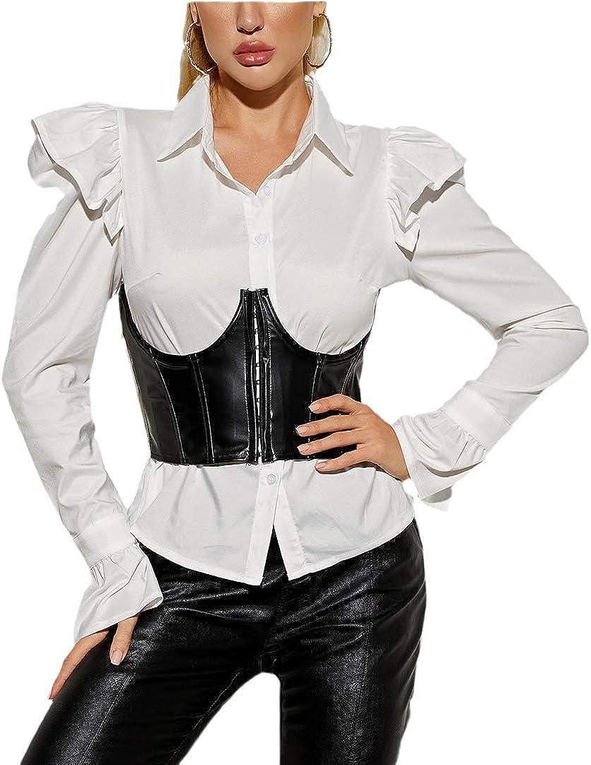 atokiss Women's Push Up Bustiers Corsets Strapless Waist Belt Bo