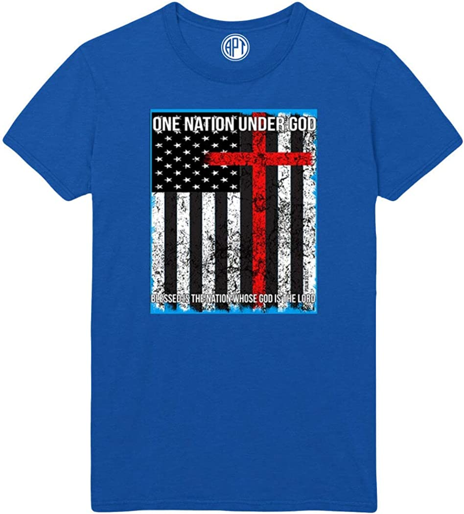 One Nation Under God with Flag Printed T-Shirt