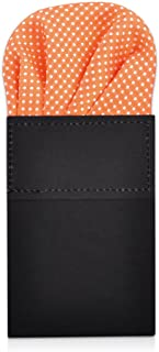 Men's Pre Folded Polka Dot Pocket Square Handkerchief Hanky on Card