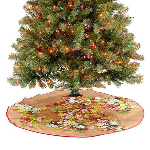 Faldones de árbol de Navidad para la venta de verano, para decoración de interiores y exteriores, cubre una gran cantidad de espacio debajo del árbol, diámetro de 76,2 cm