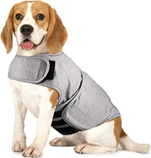 Royal Wise Dog Thunder Jacket Comfort Anti Anxiety Stress Relief Calming Wrap Vest Separation Coat Shirt (Small-XLarge)