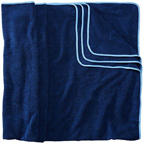 Sowel® Badetuch Groß, 200 x 160 cm, 100% Bio-Baumwolle, Strandtuch XXL, Flauschig, Navy/Blau