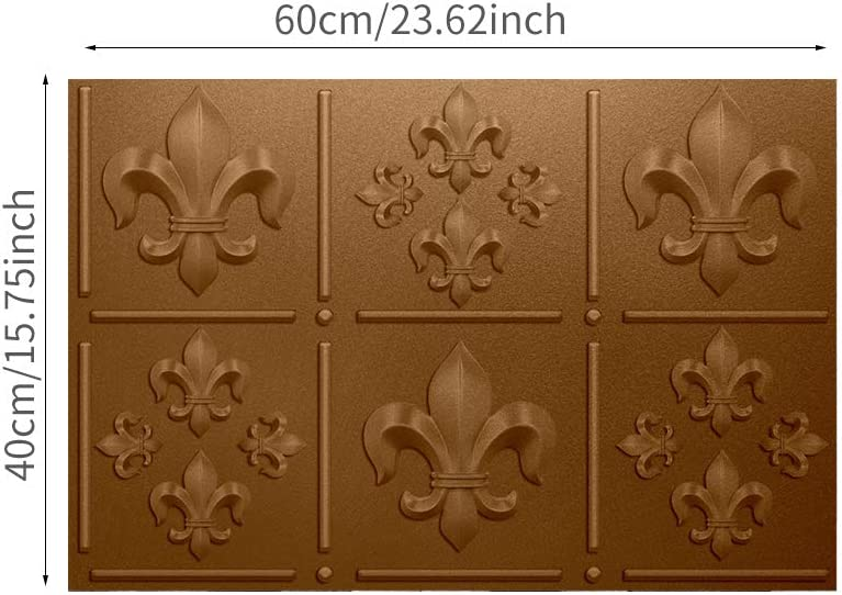 Flat Smooth Removable Backsplash Tile Decals Peel /& Stick Waterproof Wall Tiles for Kitchen funlife Self-Adhesive Ceiling Stickers Rib Pattern 15.74X23.6 1Pcs Bronze