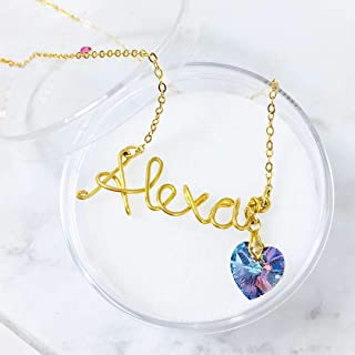 47078946a4ad Collar Con Nombre personalizado con alambre chapa de oro 22k - Tutti Joyería