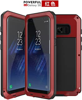Galaxy S8 Case, [Full body] [Heavy Duty Protection ] Shock Reduction / Bumper Case WITHOUT Screen Protector Shockproof Aluminum Bumper Metallic Outdoor Case for Samsung Galaxy S8 (red)