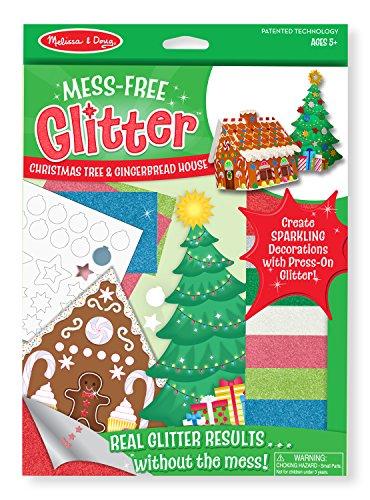 Melissa & Doug Mess-Free Glitter - Christmas Tree & Gingerbread House