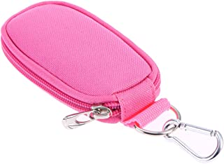 Lurrose Keychain Essential Oil Carrying Case Travel Oil Carry Organizer Pouch Carrying Storage Bags for Travel or Home Storage (Pink)