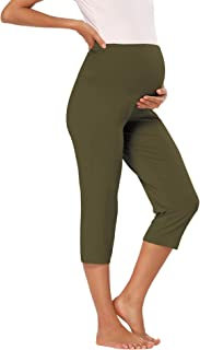 Sponsored Ad - fitglam Women's Maternity Capris Lounge Yoga Pajama Active Shorts Comfy Pregnancy Short Pants