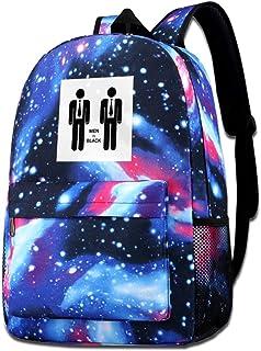 Galaxy bolsa de hombro estampada para hombre en color negro, minimalista, casual, Star Sky, mochila para niños y niñas
