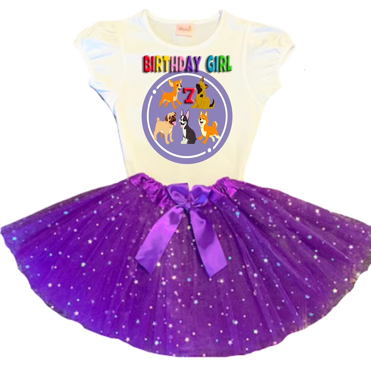Dog Patrol Birthday New Orleans Mall Tutu 7th Dress Party Easy-to-use Purple Ou