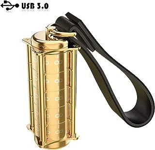 USB 3.0 Flash Drive, ROTEK Password Lock Design 32 GB Thumb Drive, Jump Drives,USB Memory Stick(Golden).