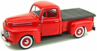 1948 Ford F-1 Pick Up, Red - Yatming 92218 - 1/18 Scale Diecast Model Toy Car