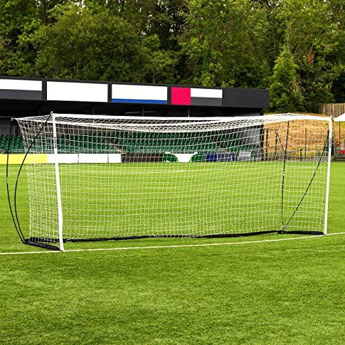 FORZA Fußballtor Proflex - Pop-Up Tor mit einem robusten Tornetz - 5 Größen erhältlich (6,4m x 2,1m)