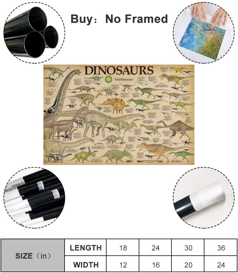 LIULANG Poster d/écoratif en toile motif dinosaure 20 x 30 cm
