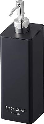 山崎実業(Yamazaki) マグネットツーウェイディスペンサー ボディソープ ブラック 約W7XD9XH24cm タワー ポンプ ディスペンサーボトル 4263