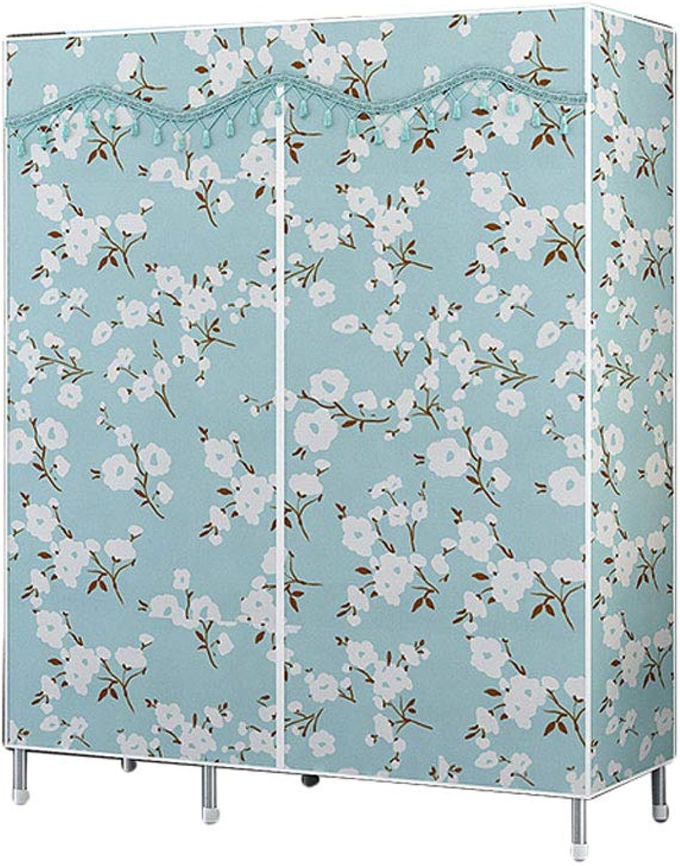 Simple wardrobe Simple wardrobe Steel Pipe 120  165  45cm Assembly Storage Wardrobe (color   B)