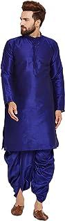 Sojanya Men's Dupion Silk Kurat Dupion Silk Dhoti Set