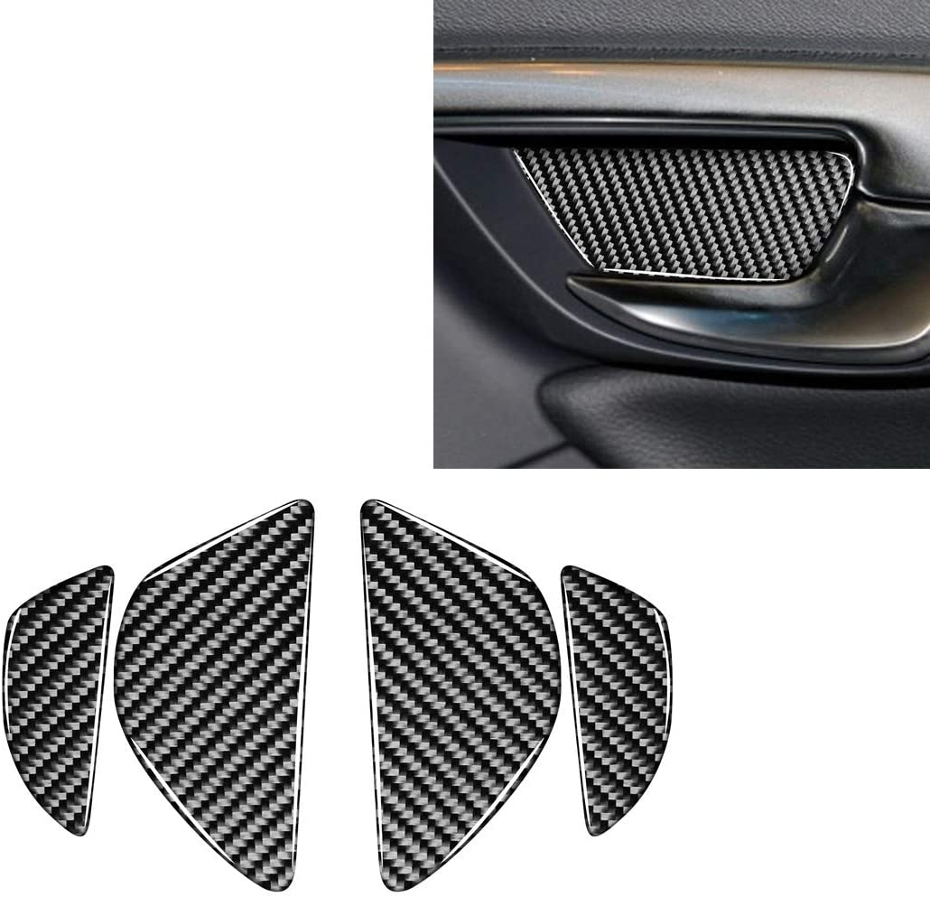 Tangyongjiao 4 PCS Car Carbon Fiber Free shipping anywhere in the OFFer nation S Bowl Door Inner Decorative