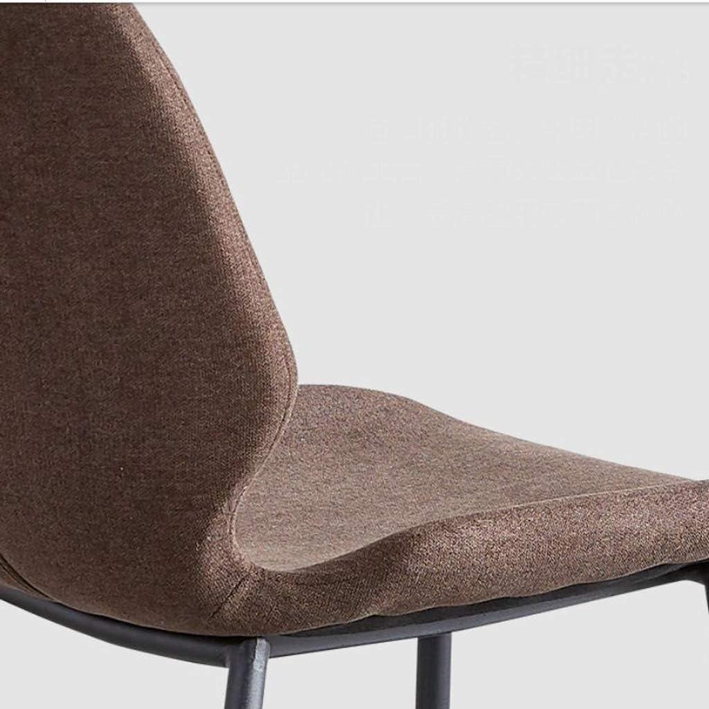 Solide Simple Chaise Bureau étudiant et Chaise de Maquillage Tabouret Retour à la Maison à Manger Chaise d'ordinateur Stable (Color : Brown) Brown