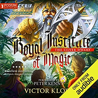 The Silver Dwarf     Royal Institute of Magic, Book 4              By:                                                                                                                                 Victor Kloss                               Narrated by:                                                                                                                                 Peter Kenny                      Length: 9 hrs and 41 mins     13 ratings     Overall 4.8
