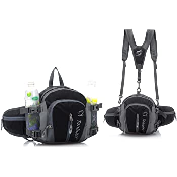 Travel Waist Pack,travel Pocket With Adjustable Belt Black Bear Running Lumbar Pack For Travel Outdoor Sports Walking