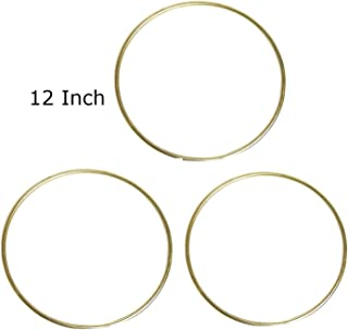Pepperell Macrame Rings Brass Plated Bundle of 3 Rings (12