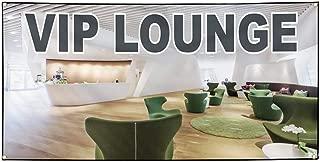 Vinyl Banner Sign VIP Lounge Restaurant & Food VIP Lounge Marketing Advertising White - 60inx144in (Multiple Sizes Available), 10 Grommets, Set of 2