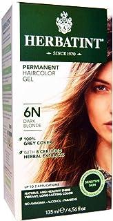 Herbatint, Permanent Herbal Haircolor Gel, 6N, Dark Blonde, 4.56 fl oz (135 ml)